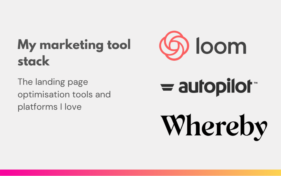 Landing page optimisation tools and platforms I love [v1]