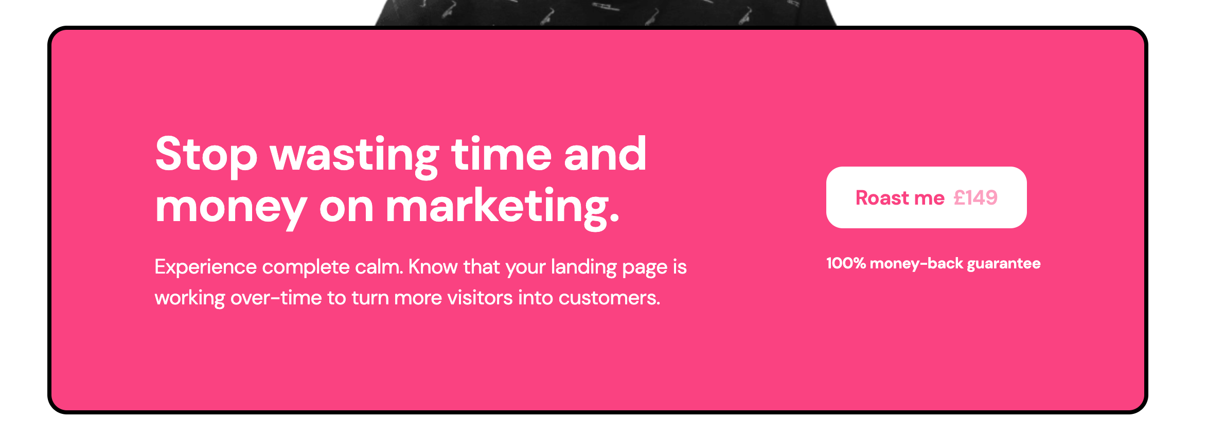 roast my landing page home for landing page optimization